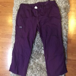 Cherokee Workwear purple scrub bottoms